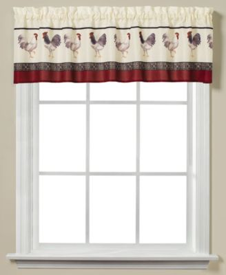"French Country Rooster-Print 58"" x 13"" Valance"