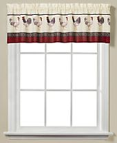 """Saturday Knight French Country Rooster-Print 58"""" x 13"""" Valance"""