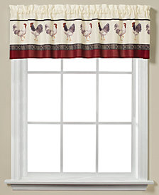 "Saturday Knight French Country Rooster-Print 58"" x 13"" Valance"
