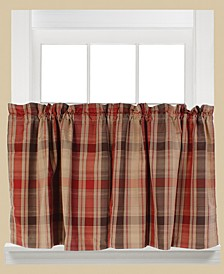 "Cooper Plaid Pair of 29"" x 36"" Tier Curtains"