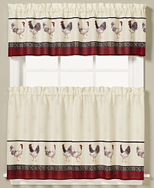 Saturday Knight French Country Rooster-Print Valance and Tier Pair Collection