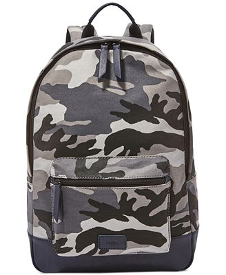 Fossil Men's Estate Camo Backpack - Accessories & Wallets - Men ...