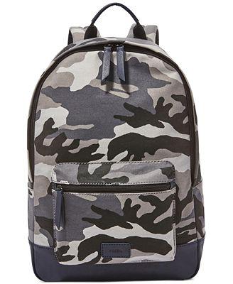 Fossil Men's Estate Camo Backpack - Accessories & Wallets - Men ...