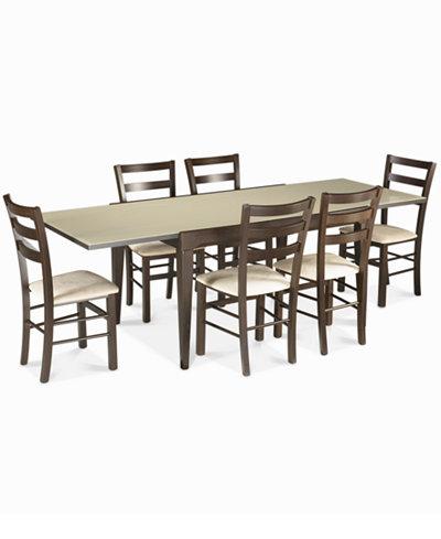 Caf Latte 7 Piece Dining Set Furniture Macy 39 S