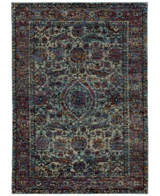 "Journey  Pena Blue 3'3"" x 5'2"" Area Rug"