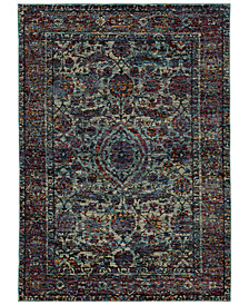 "Macy's Fine Rug Gallery Journey  Pena Blue 5'3"" x 7'3"" Area Rug"