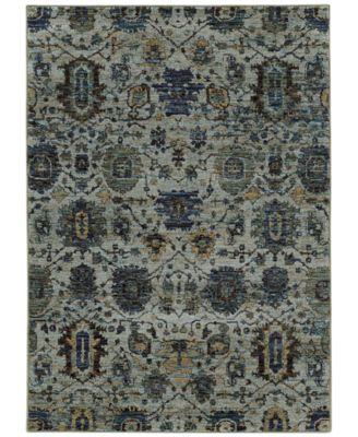 "Journey  Amizade Blue 8'6"" x 11'7"" Area Rug"