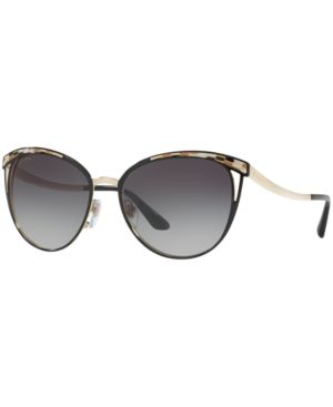 BVLGARI Sunglasses, Bv6083 in Black Gold/Grey Gradient