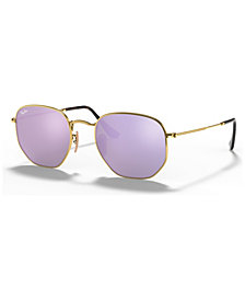 Ray-Ban Sunglasses, RB3548N HEXAGONAL FLAT LENSES