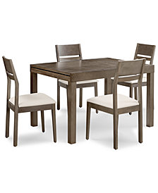 Emilia Dining Furniture, 5-Pc. Set (Table & 4 Side Chairs)