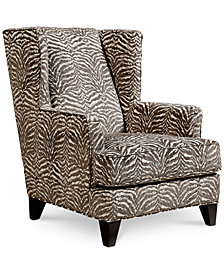 Paulette's Fabric Printed Wing Chair