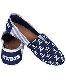 Forever Collectibles Women's Dallas Cowboys Canvas Stripe Shoes