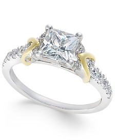 certified diamond engagement ring 1 12 ct tw in 18k - Wedding Rings Under 200