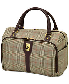 "CLOSEOUT! London Fog Knightsbridge 17"" Cabin Tote, Available in Brown and Grey Glen Plaid, Created for Macy's"