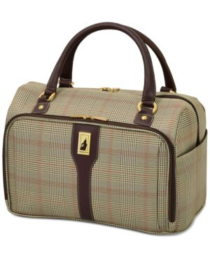 """Closeout! London Fog Knightsbridge 17"""" Cabin Tote, Available in Brown and Grey Glen Plaid, Created for Macy's 2842721"""