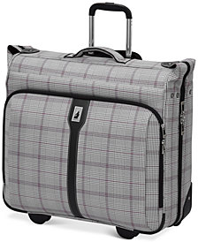 "CLOSEOUT! London Fog Knightsbridge 44"" Rolling Garment Bag, Available in Brown and Grey Glen Plaid, Created for Macy's"