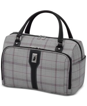 "London Fog Knightsbridge 17"" Cabin Tote, Available in Brown and Grey Glen Plaid, Created for Macy's 2842721"