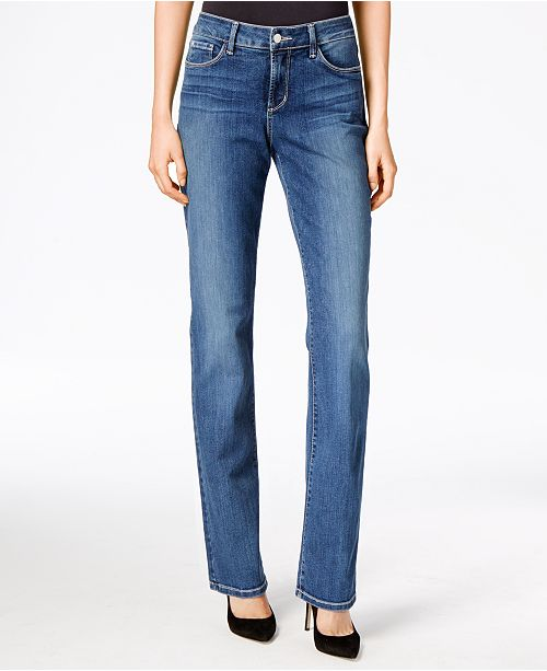 e561327c1bb NYDJ Marilyn Tummy-Control Straight-Leg Jeans   Reviews - Jeans ...