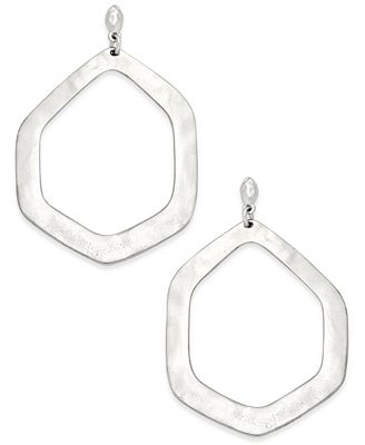 INC International Concepts Large Hammered Geometric Gypsy Hoop Earrings, Only at Macy's