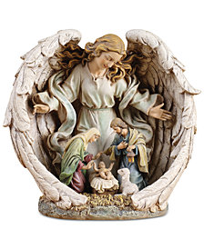 Napco Small  Guardian Angel with Holy Family