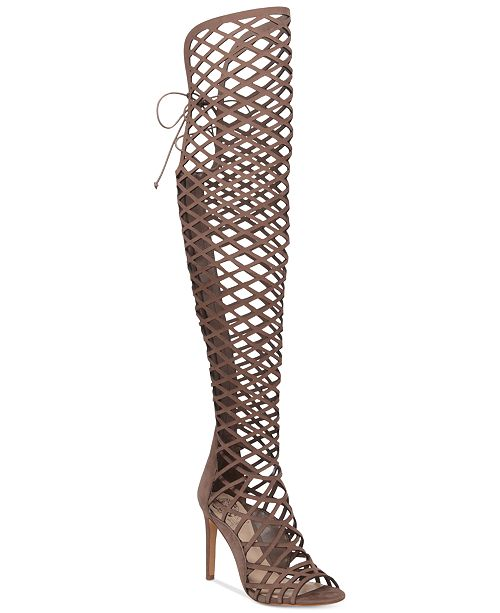1d35795b83d4 Vince Camuto Keliana Over-The-Knee Caged Sandals   Reviews ...