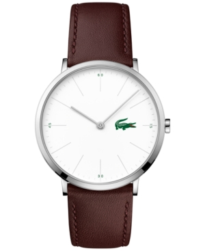 Lacoste Men's Moon Brown Leather Strap Watch 40mm 2010872
