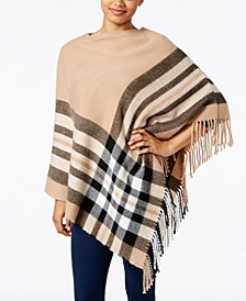 Plaid Brushed Poncho, Created for Macy's