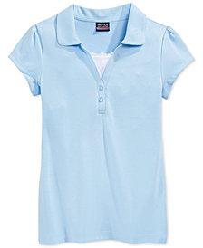 Nautica School Uniform Layered-Look Polo Shirt, Big Girls