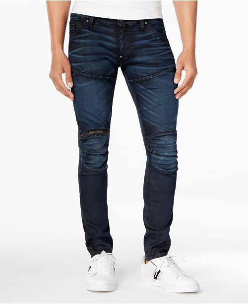 G Star Raw Men's 5620 3D Zip Knee Super Slim Fit Jeans