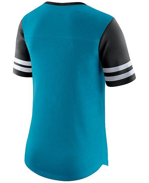 official photos ddabf ad683 Nike Women's Carolina Panthers Gear Up Fan Top T-Shirt ...