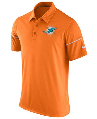 Nike Men 39 S Miami Dolphins Team Issue Polo Shirt Sports