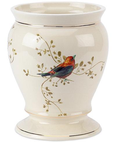 Avanti Bath Accessories, Gilded Birds Trash Can