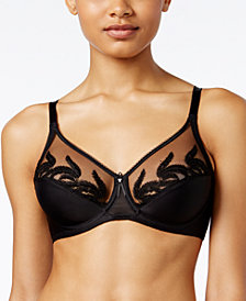 Wacoal Feather Full Figure Sheer-Embroidery Underwire Bra 85121