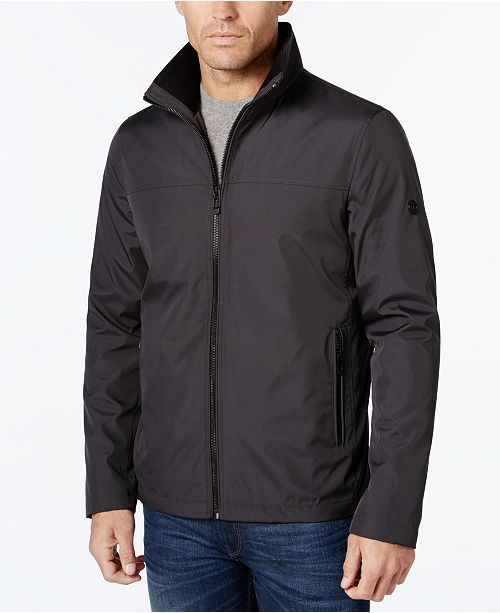 1f3d3852f Calvin Klein Men's Lightweight Full-Zip Stand-Collar Jacket ...