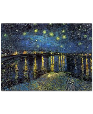 'The Starry Night II' by Vincent van Gogh Canvas Print