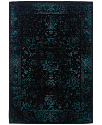 CLOSEOUT! Oriental Weavers Revamp REV7689G Turquoise Area Rug
