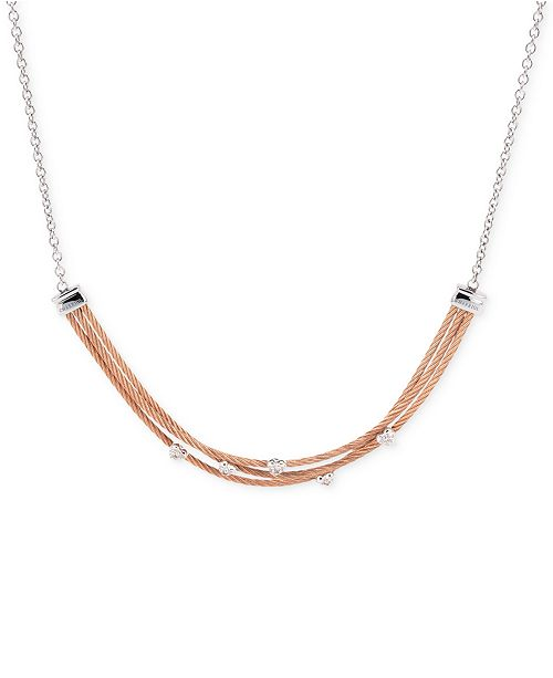 CHARRIOL Women's Malia White Topaz-Accent Two-Tone PVD Stainless Steel Necklace