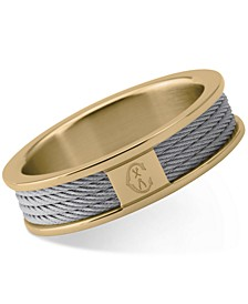 Women's Forever Two-Tone PVD Stainless Steel Cable Ring