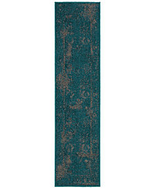 "CLOSEOUT! Oriental Weavers Revamp REV7690D Turquoise 1'10"" x 7'6"" Runner Rug"