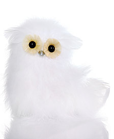Holiday Lane White Owl Figurine, Created for Macy's