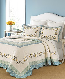 Martha Stewart Collection Cotton Prairie House King Bedspread, Created for Macy's