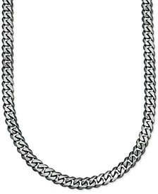 Antique Curb Link (5-1/4mm) Chain in Sterling Silver, Created for Macy's