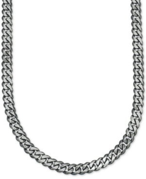 Antique Curb Link (5-1/4mm) Chain in Sterling Silver