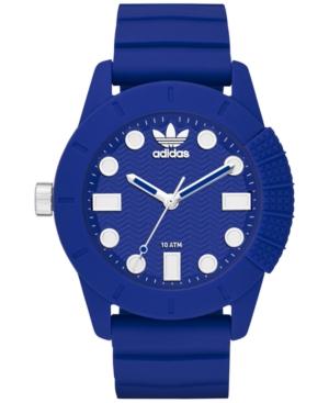 adidas Unisex Originals Blue Silicone Strap Watch 44mm ADH3103