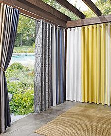 Sun Zero Rutherford Solid Woven Indoor/Outdoor UV Protectant Curtain Panels