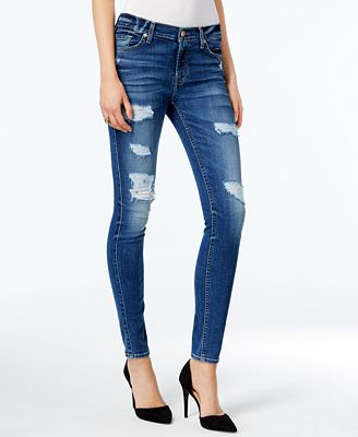 7 For All Mankind Abbey Road Wash Ripped Skinny Jeans - Jeans ...