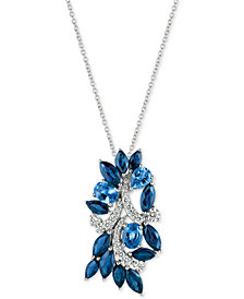 Le Vian® Ceylon Sapphire (3-5/8 ct. t.w.) and Diamond (1/3 ct. t.w.) Pendant Necklace in 14k White Gold, Created for Macy's