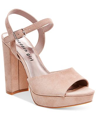 Madden Girl Sharpe Block-Heel Platform Sandals