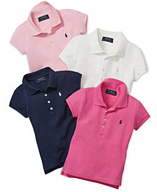Polo Ralph Lauren Toddler & Little Girls & Big Girls Mesh Polos