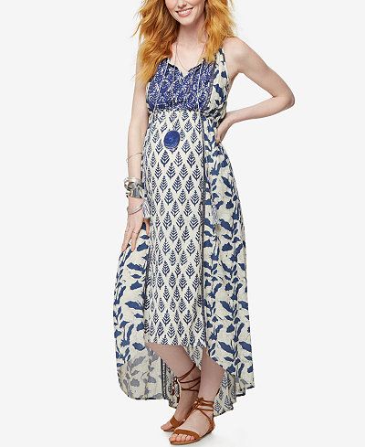 A Pea In The Pod Maternity Printed High-Low Dress